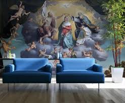 Religious oil painting background wall ...