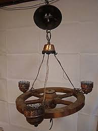 vintage nautical boat ship wheel 3 light chandelier light fixture ceiling 21