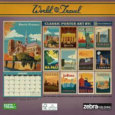 Travel Calendar World Travel Classic Posters 2017 Wall Calendar Anderson Design