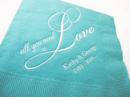 best Personalized Napkins   Wedding Napkins   Cocktail Party     Pinterest Custom Printed Wedding Cocktail Napkins