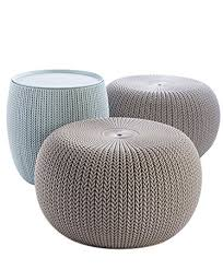 Outdoor Knit Pouf