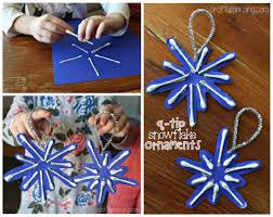Q-Tip Snowflake Ornament