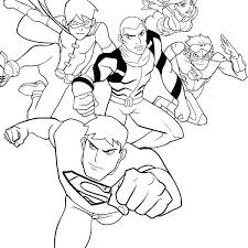 Beautiful Justice League Coloring Pages For The Justice League