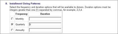 Sample Donation Form Sample Scenario Installment Payment Donation Form