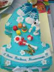 Красивый торт на годик