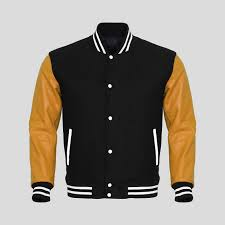high school varsity jacket black gold