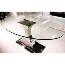 oval glass dining table. montella oval glass dining table 160
