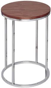 westminster walnut side table round with polished base