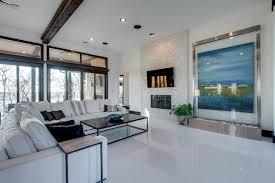 White Tile Floor Living Room Flooring Ideas