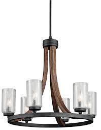 kichler 43193aub chandelier 6lt
