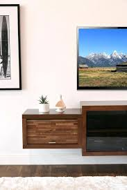 floating fireplace tv stand floating mid century modern fireplace stand console mocha home interior designers near