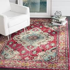 safavieh monaco collection mnc243d vintage oriental bohemian pink and multi distressed area rug 8