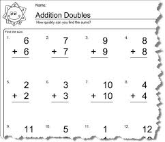 Doubles Math Facts Worksheets Printable   Deployday as well  as well  as well Addition – Doubles – Worksheet   FREE Printable Worksheets likewise Best 25  Doubles addition ideas on Pinterest   Doubles facts  Math moreover First Grade Addition Doubles Worksheets   Bloomersplantnursery also 42 best touch math images on Pinterest   Printable worksheets additionally  besides Kids Math Sheets  Worksheet  Mogenk Paper Works also Fairy Addition  Doubles Facts   Worksheet   Education likewise 18 best Math doubles images on Pinterest   Numeracy  Preschool. on for first grade math worksheets doubles