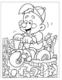 Kleurennu Driewieler Carnavalswagen Kleurplaten