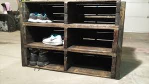 diy pallet shoe rack. Reclaimed Pallet Shoe Rack Diy
