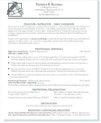 Example Of Teaching Resume Simple Resumes For Preschool Teachers Resume For Preschool Teacher Teaching