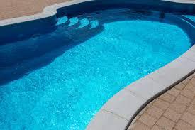 small 10x20 fiberglass pool installation with steps