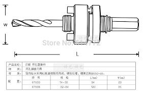 hole saw arbor sizes. open hole opener, metal connecting rod reamer, woodworking drill saw ,hole arbor,size is 32 64mm-in hand tool sets from home improvement on arbor sizes a