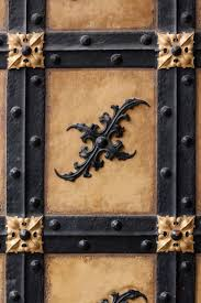 wood and wrought iron furniture. Wood Antique Number Trunk Old Wall Metal Furniture Door Goal Ornament Art Brass Painted Iron Carving And Wrought