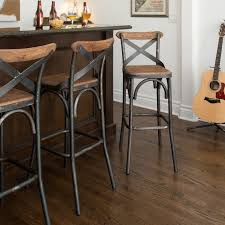 Kosas Home Dixon Rustic Brown and Black Reclaimed Pine and Iron Bar Stool -  16027627 -