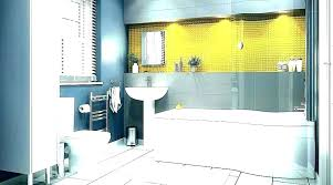Gray And Yellow Bathroom Accessories