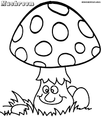 mushroom coloring pages to and print