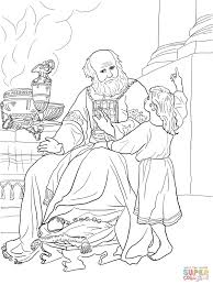 Small Picture Samuel Helps Eli coloring page Free Printable Coloring Pages