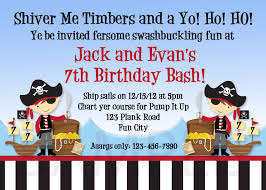 printable invitations for kids printable birthday invitations boys pirate party invites