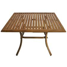 allen roth colby 45 in x 45 in aluminum square patio dining table
