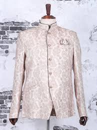 Buy Designer Coat Cream Terry Rayon Wedding Jodhpuri Suit White Dressy