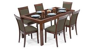 glass dining furniture. Vanalen 6-to-8 Extendable - Dalla 6 Seater Glass Top Dining Table Set Furniture