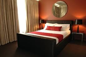 Amazing Red And Brown Bedroom Decorating Ideas Romantic Couple Red Bedroom Decor  Ideas With Black Bed Frame . Red And Brown Bedroom Decorating Ideas ...