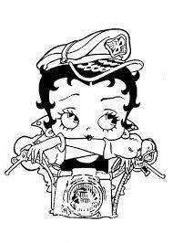 Betty Boop Kleurplaat Printen 16