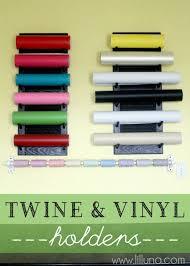 diy twine and vinyl holders vinyl storageorganization ideasstorage
