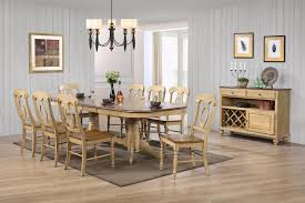 sunset trading 10 piece brook double pedestal extension dining set with server