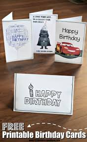 Black And White Birthday Cards Printable Free Printable Birthday Cards 123 Homeschool 4 Me