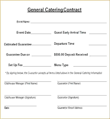 Example Of Catering Contract Catering Contract Template Word Iamfree Club
