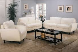 Retro Living Room Sets Retro Style Leather Living Room 502391 White