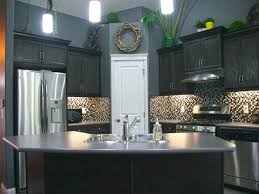 Wall Cabinets Kitchen Gray Kitchen Walls With Dark Cabinets Outofhome