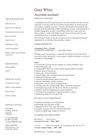 Account Assistant Resume Format In Word Accountant Cv Accounting