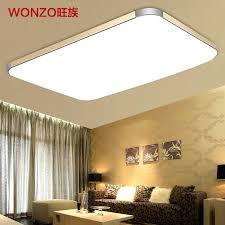 ultra modern bathroom lighting fixtures clan slim led ceiling lamp minimalist rectangular large living room balcony