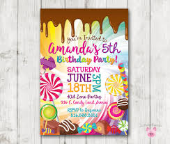 Birthday Invitation Party Printable Candy Invitation Candy Birthday Invitation
