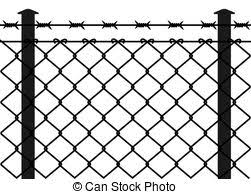 barbed wire fence drawing. Wire Fence With Barbed Wires Drawing