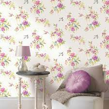 Shabby Chic Floral Wallpaper In Various ...