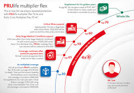 whole life insurance prulife multiplier flex infographic