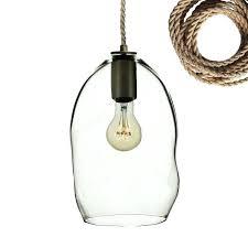 clear bubble organic hand blown glass pendant light ship rope hand blown glass pendants hand blown