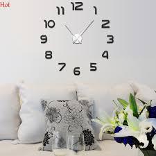 2017 new fashion 3d wall clock mirror sticker diy wall clocks home decoration wall clock meetting room black gold silver whole sv030320 wall wear