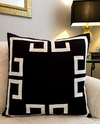 black and cream pillows. Fine Black Black Greek Key Pillow CoverBlack And Cream PillowBlack Inside And Pillows R