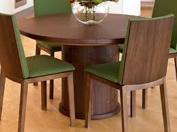 breathtaking brown round modern wooden round expandable dining table stained ideas
