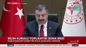 TRT Haber - Sağlık Bakanı Fahrettin Koca, Bilim Kurulu Toplantısı sonrası  açıklama yapıyor. | Faceboo
